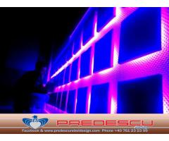 Decoratiuni Club Perne Tapitate Cu Led RGB Predescu Rebel Design
